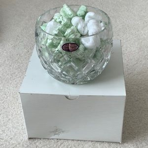 Hand Cut Crystal Bowl Made in Poland, 24% PbO